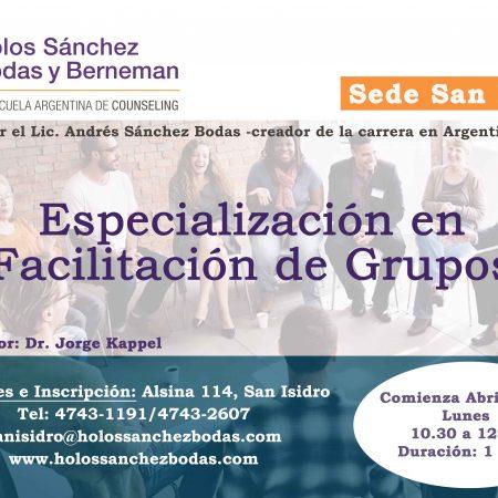 Especialización en Facilitación de Grupos