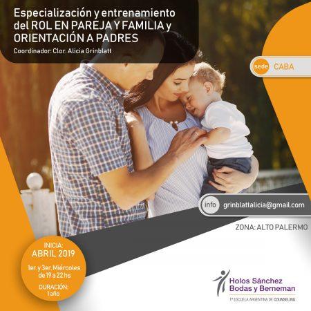 ROL EN PAREJA Y FAMILIA Y ORIENTACIÓN A PADRES