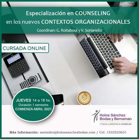 Especialización Counseling  en los  nuevos CONTEXTOS ORGANIZACIONALES