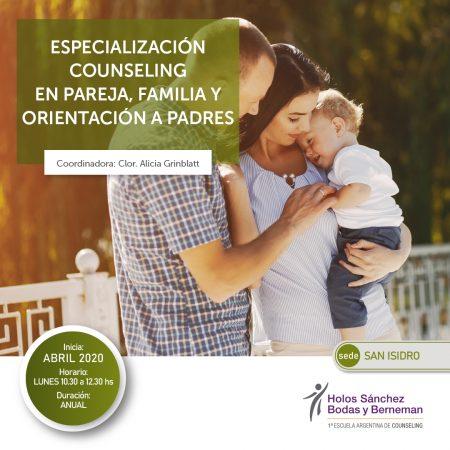 Especialización en Pareja, Familia y Orientación a Padres