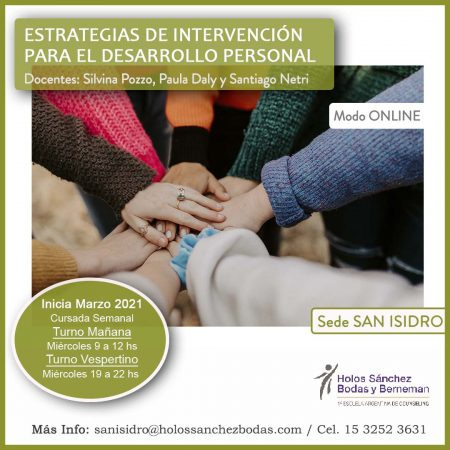 ESTRATEGIAS DE INTERVENCIÓN PARA EL DESARROLLO PERSONAL – Sede SAN ISIDRO