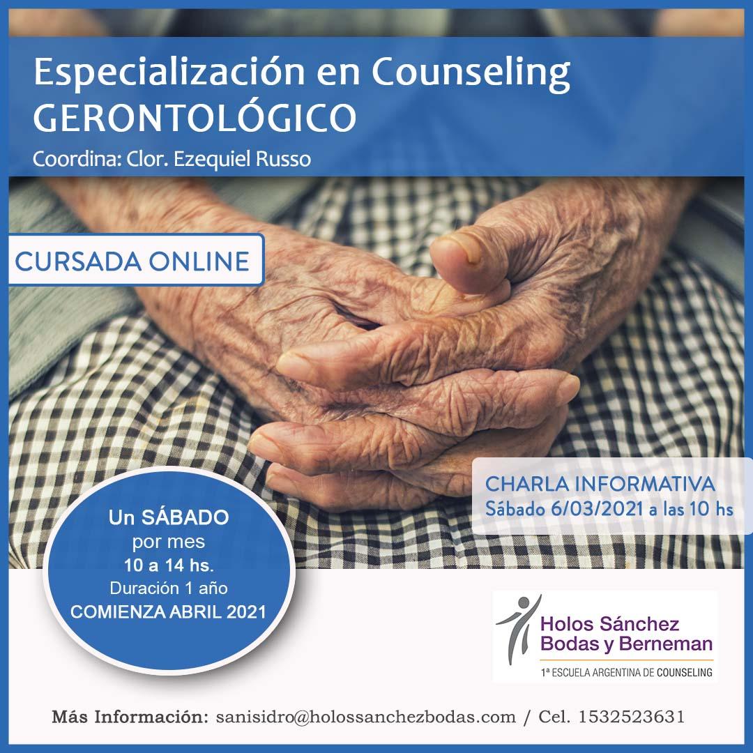 ESPECIALIZACIÓN EN COUNSELING GERONTOLÓGICO