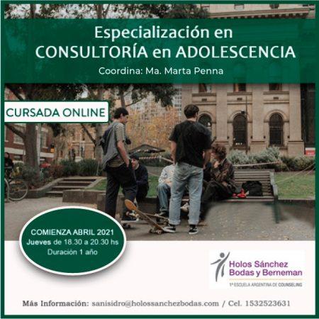 ESPECIALIZACION EN CONSULTORIA EN ADOLESCENCIA