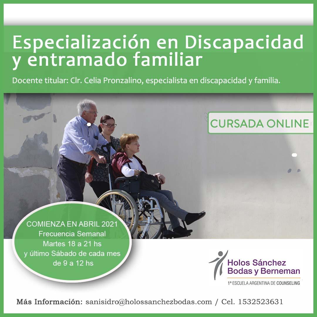 ESPECIALIZACION EN DISCAPACIDAD Y ENTRAMADO FAMILIAR